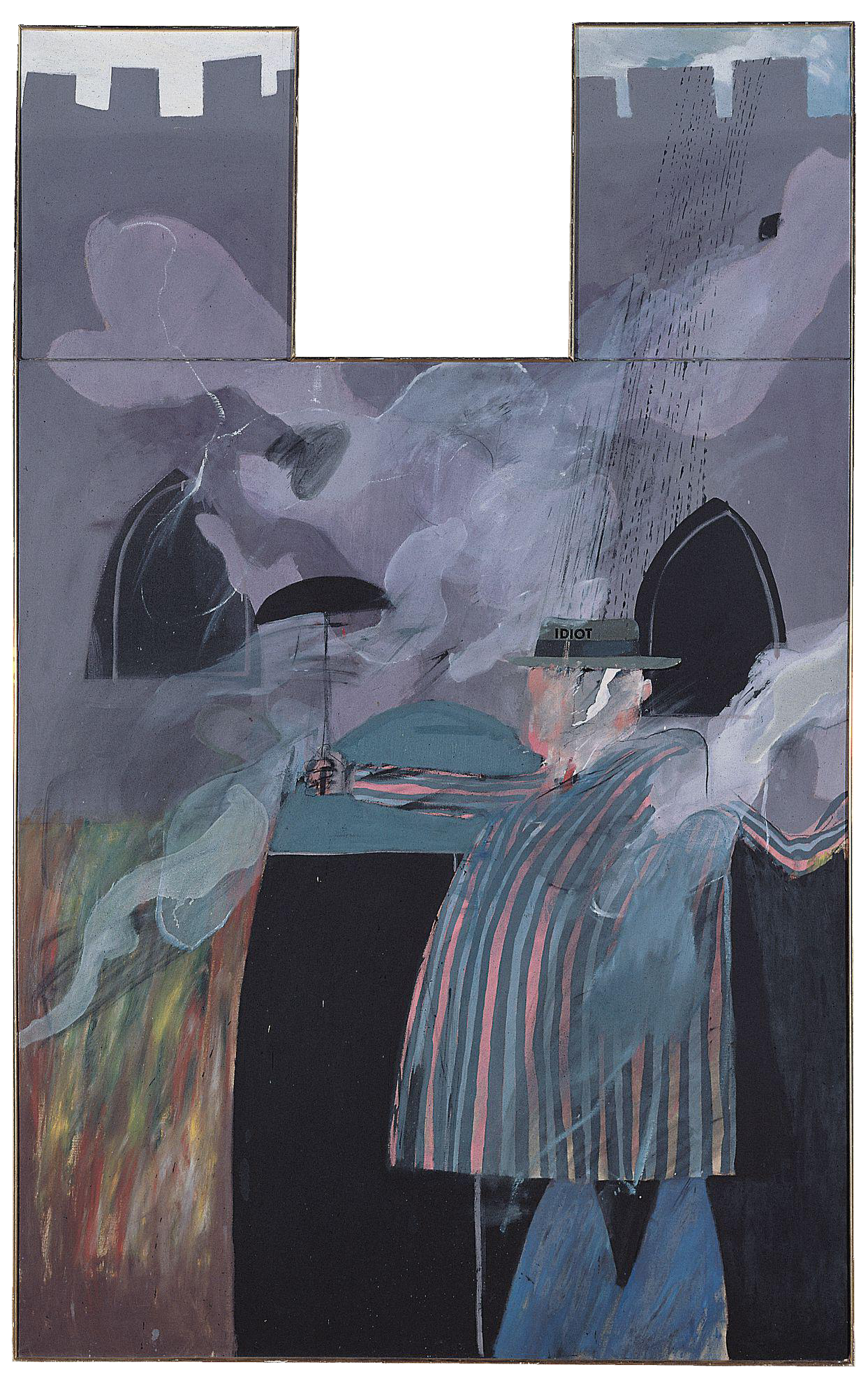 <i>Man stood in front of his house with rain descending (The Idiot)</i>, 1962