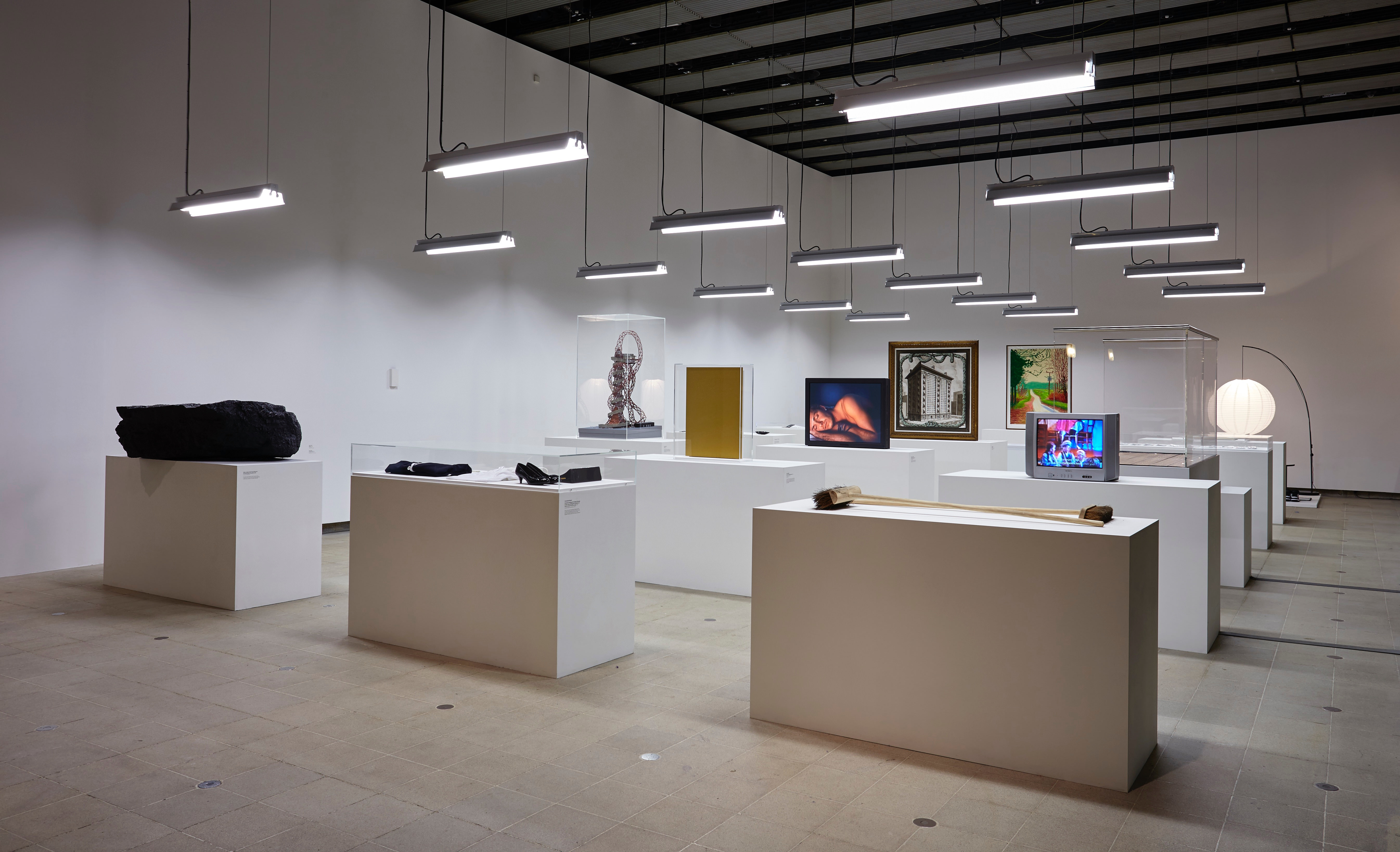 Installation view of Simon Fujiwara's section, <i>History Is Now: 7 Artists Take On Britain</i>