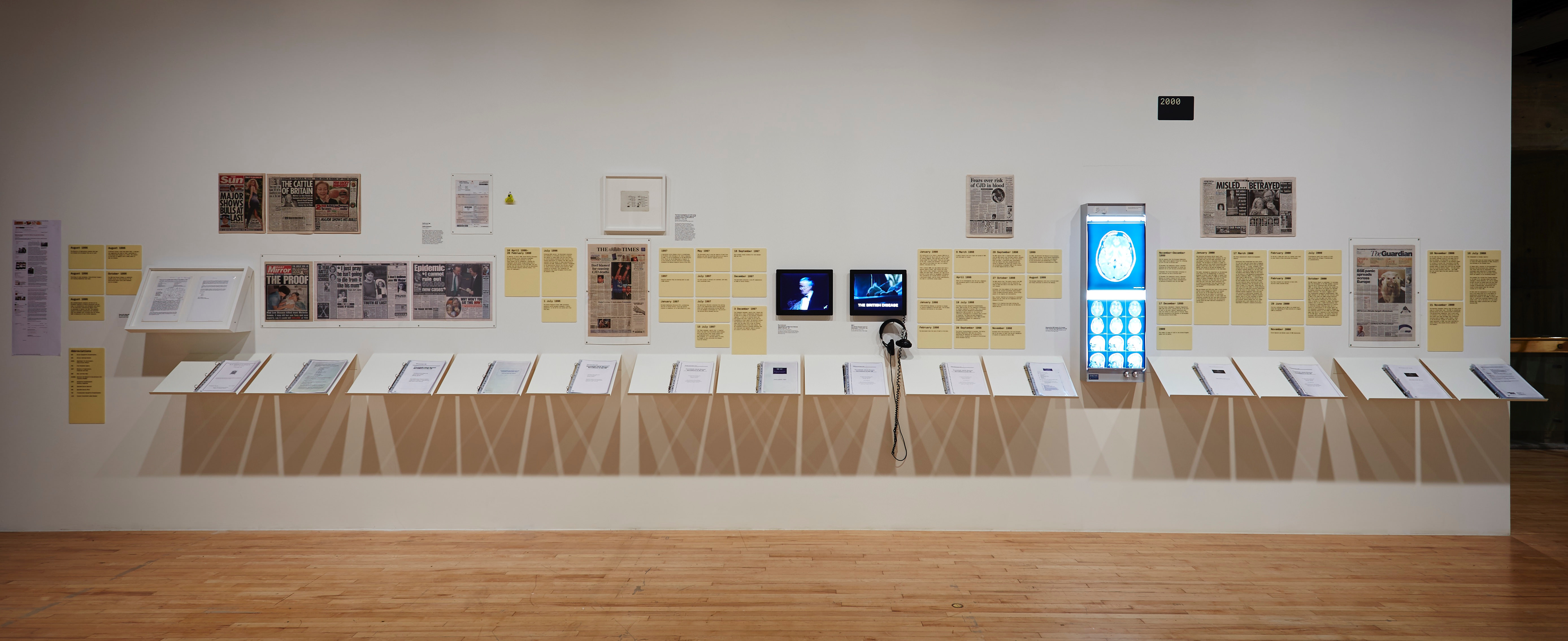 Installation view of Roger Hiorns's section, <i>History Is Now: 7 Artists Take On Britain</i>