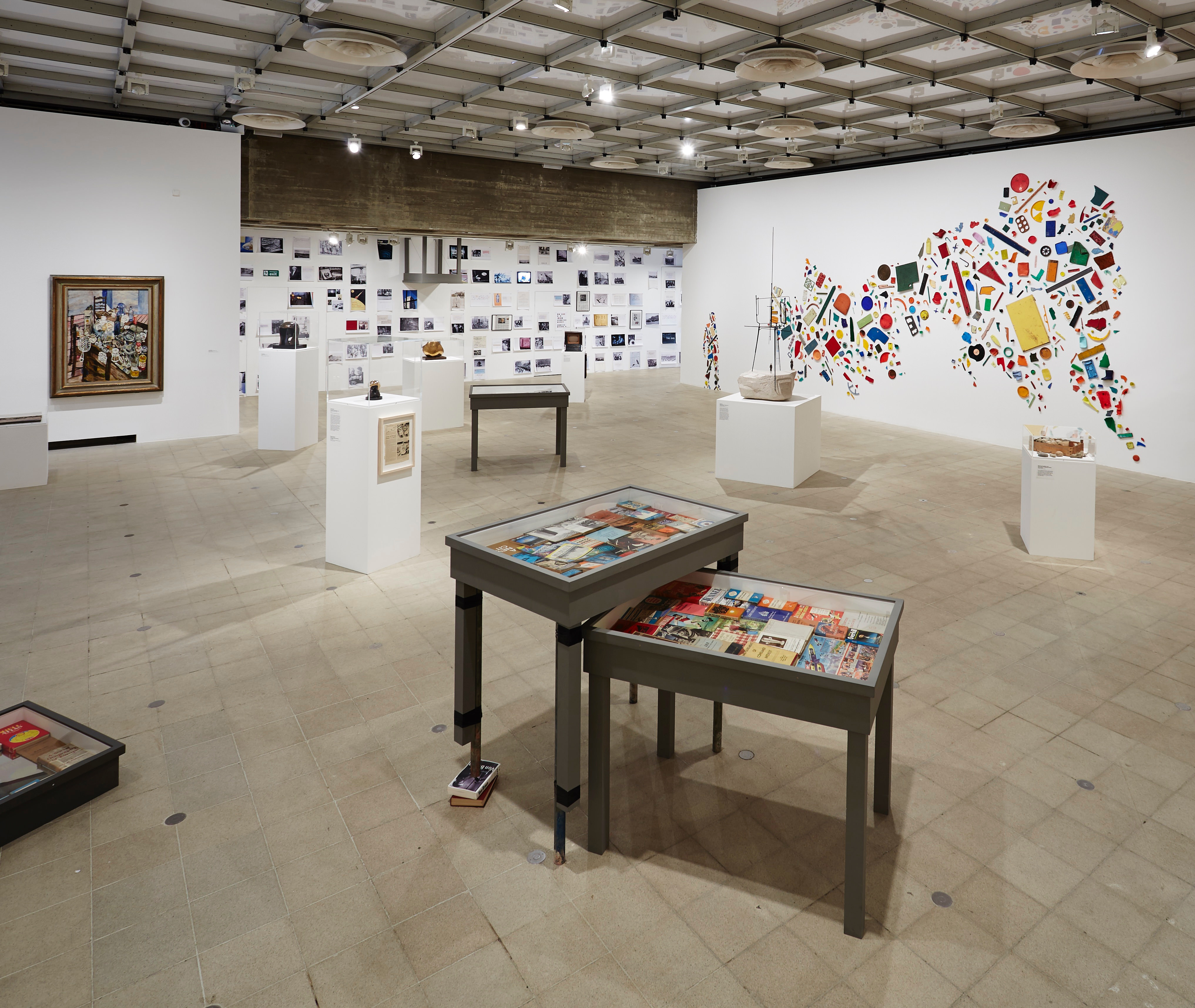 Installation view of Richard Wentworth's section, <i>History Is Now: 7 Artists Take On Britain</i>