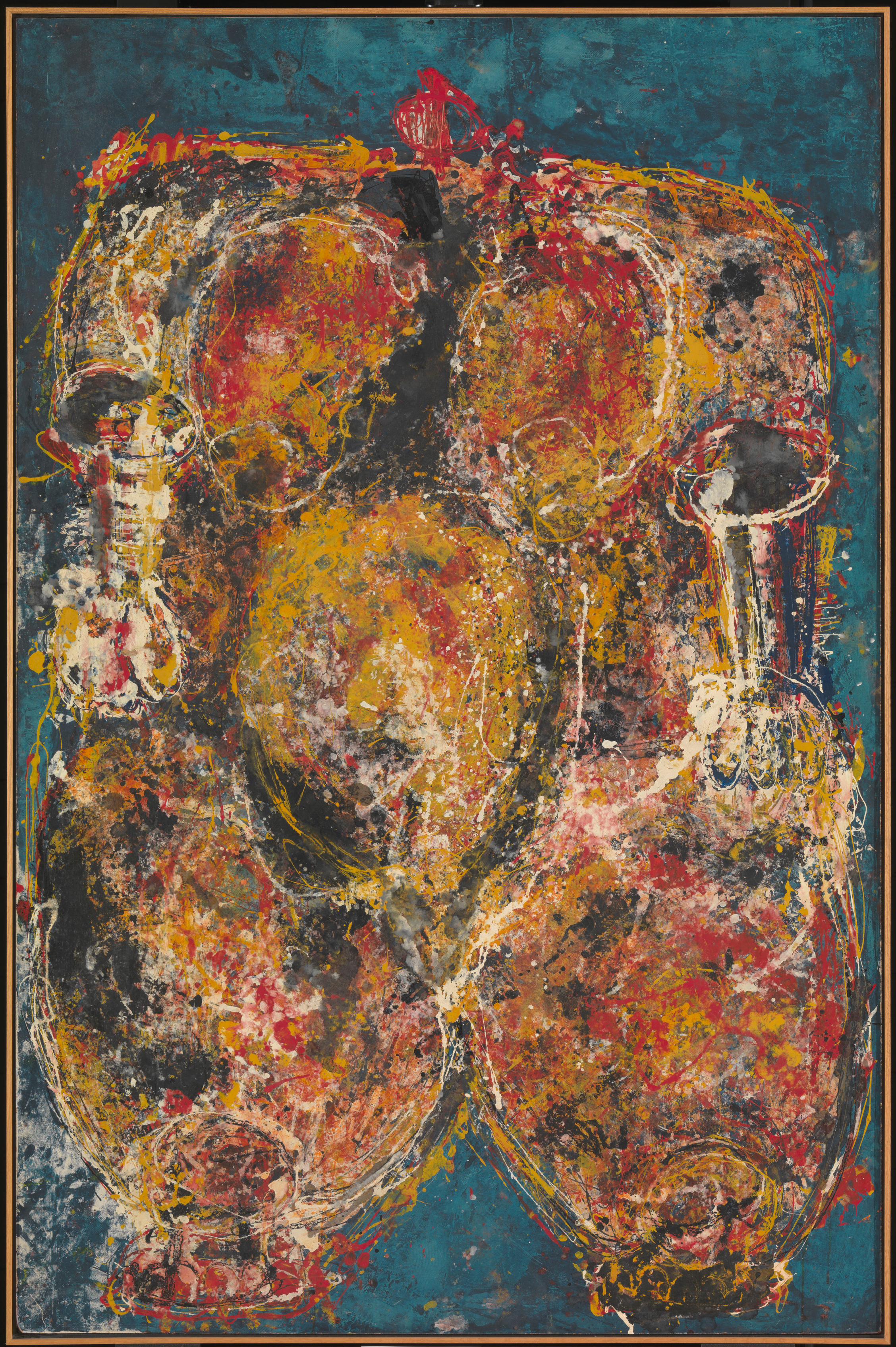 unconfirmed medium (mixed materials on canvas), 231.2 x 152.2 cm. Tate, London