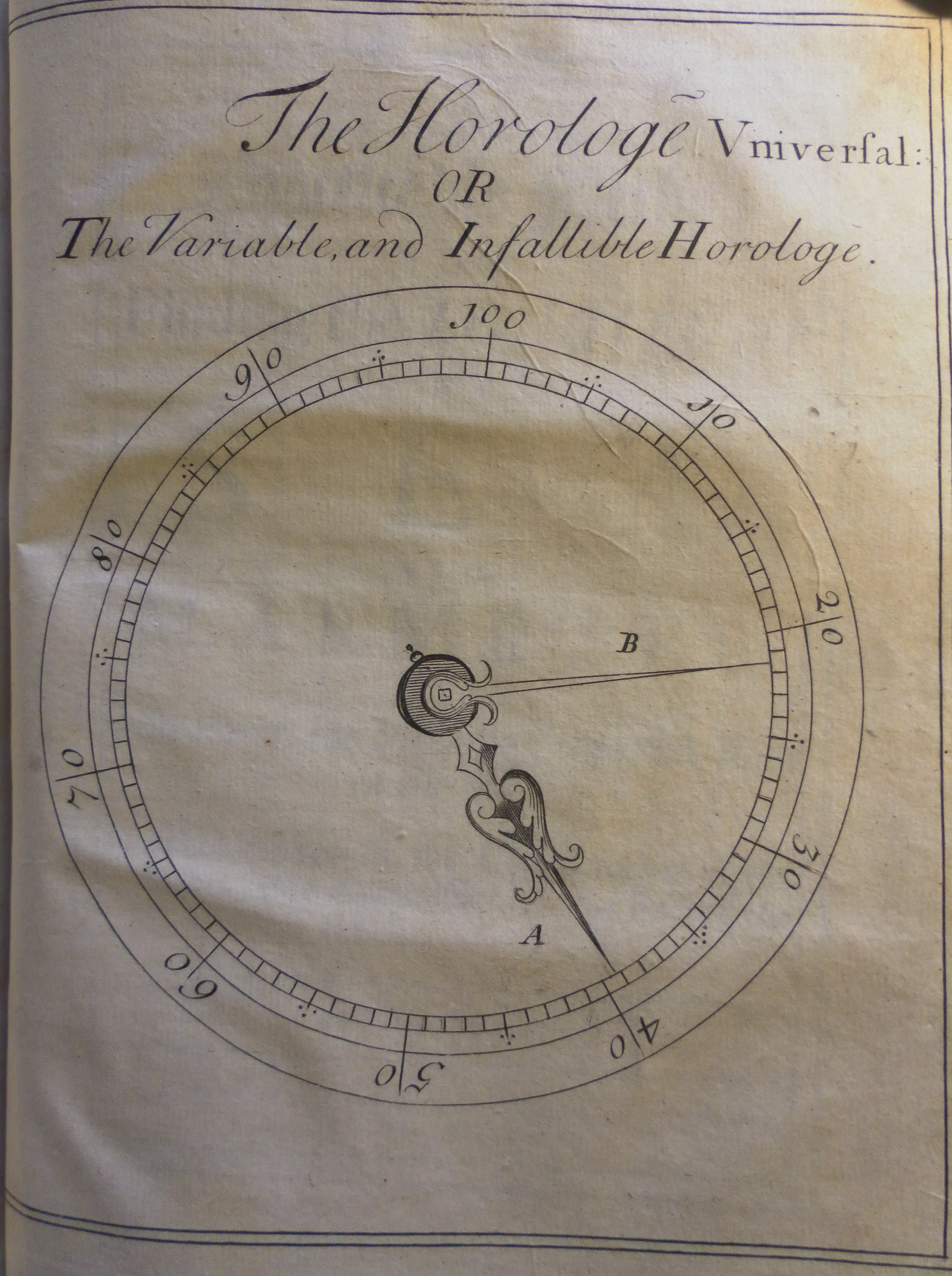 from William Hobbs, <i>A new discovery for finding the longitude</i>, 1716, engraving, 21.0 x 15.8 cm