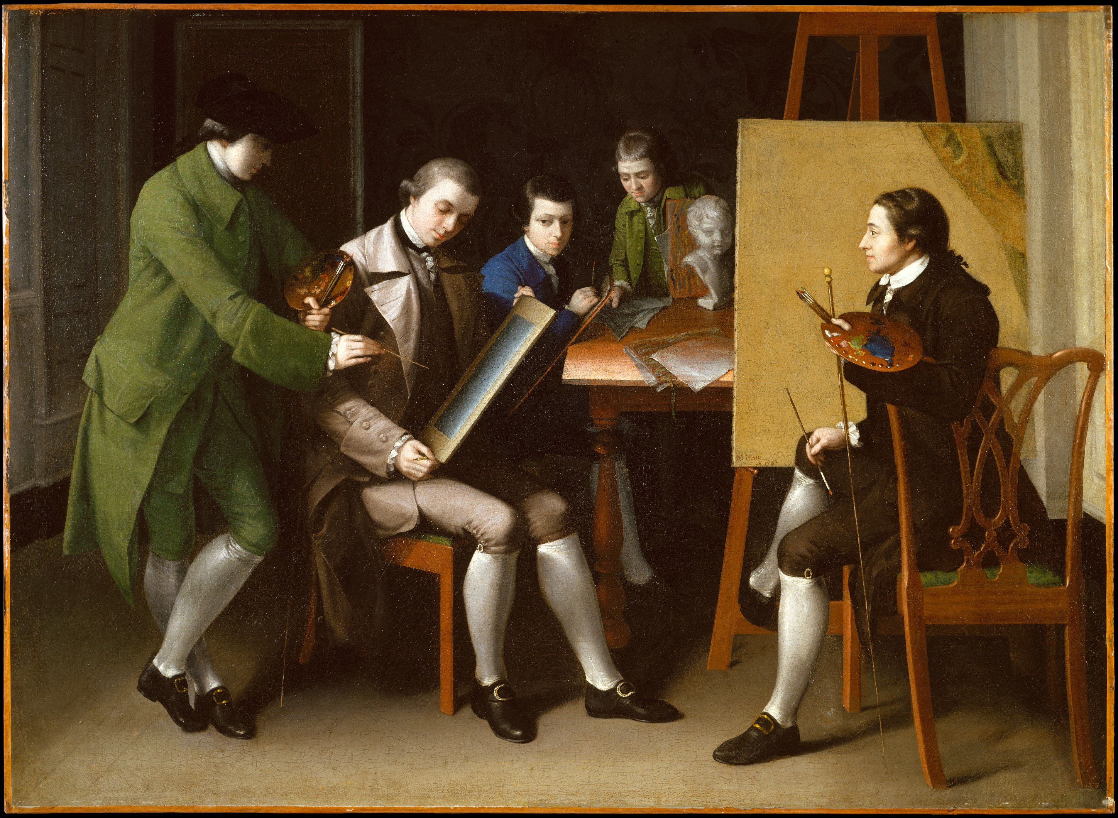 An analysis of the american school a painting by matthew pratt