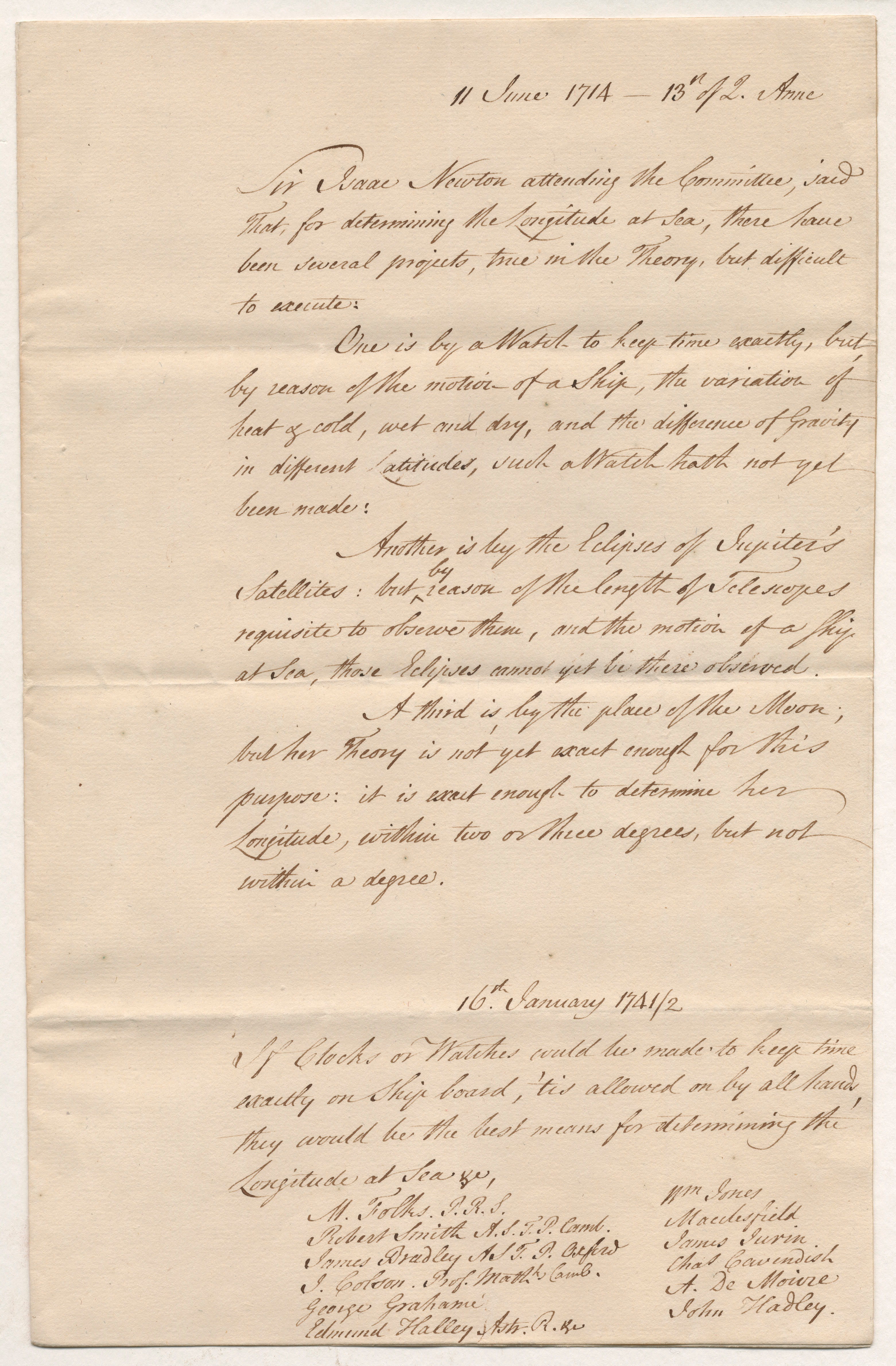 Manuscript copy collated by William Wildman Barrington, 1764, pen and ink, 32.0 x 20.3 cm