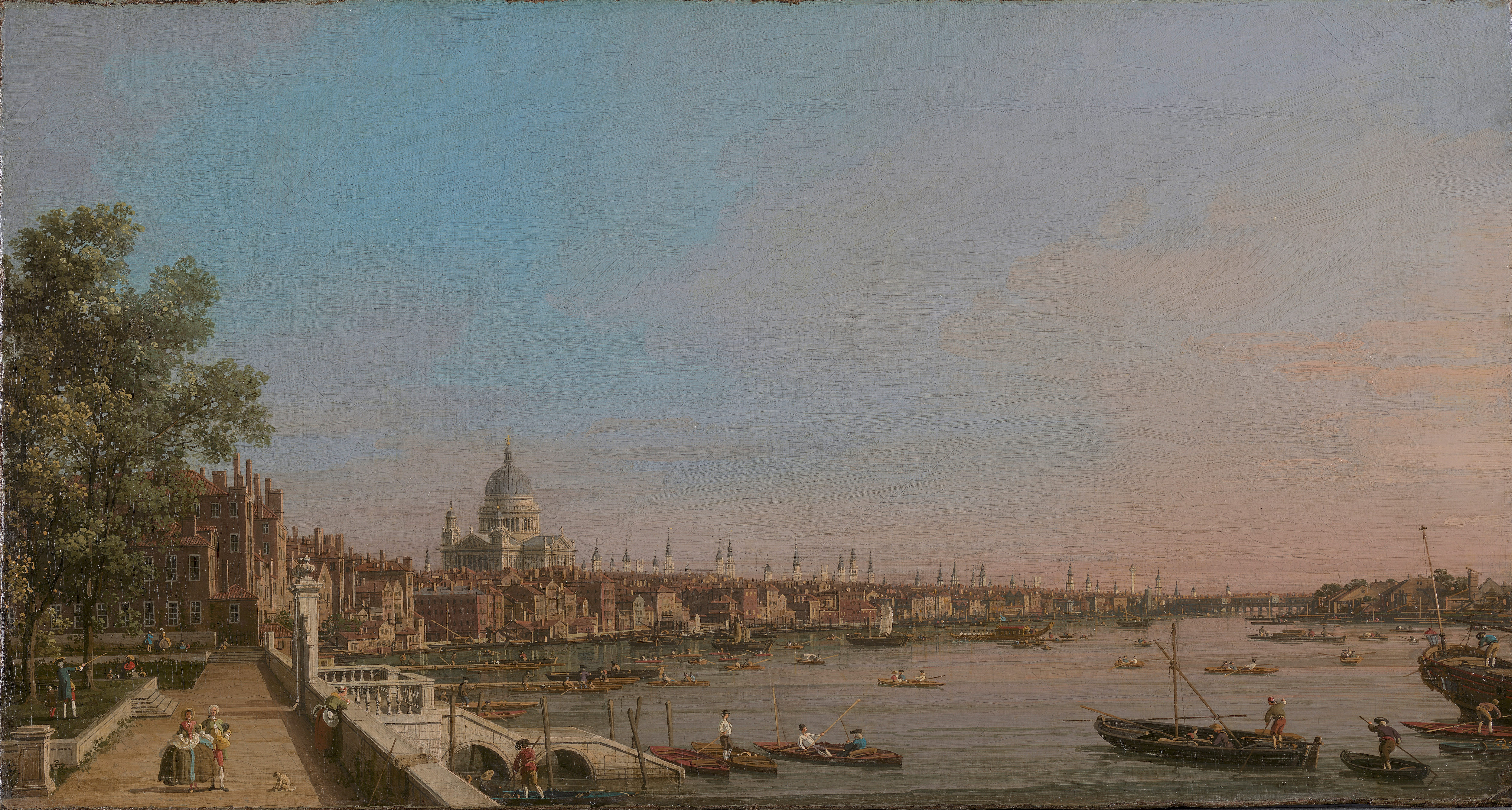 The Thames from the Terrace of Somerset House, Looking toward St Paul's