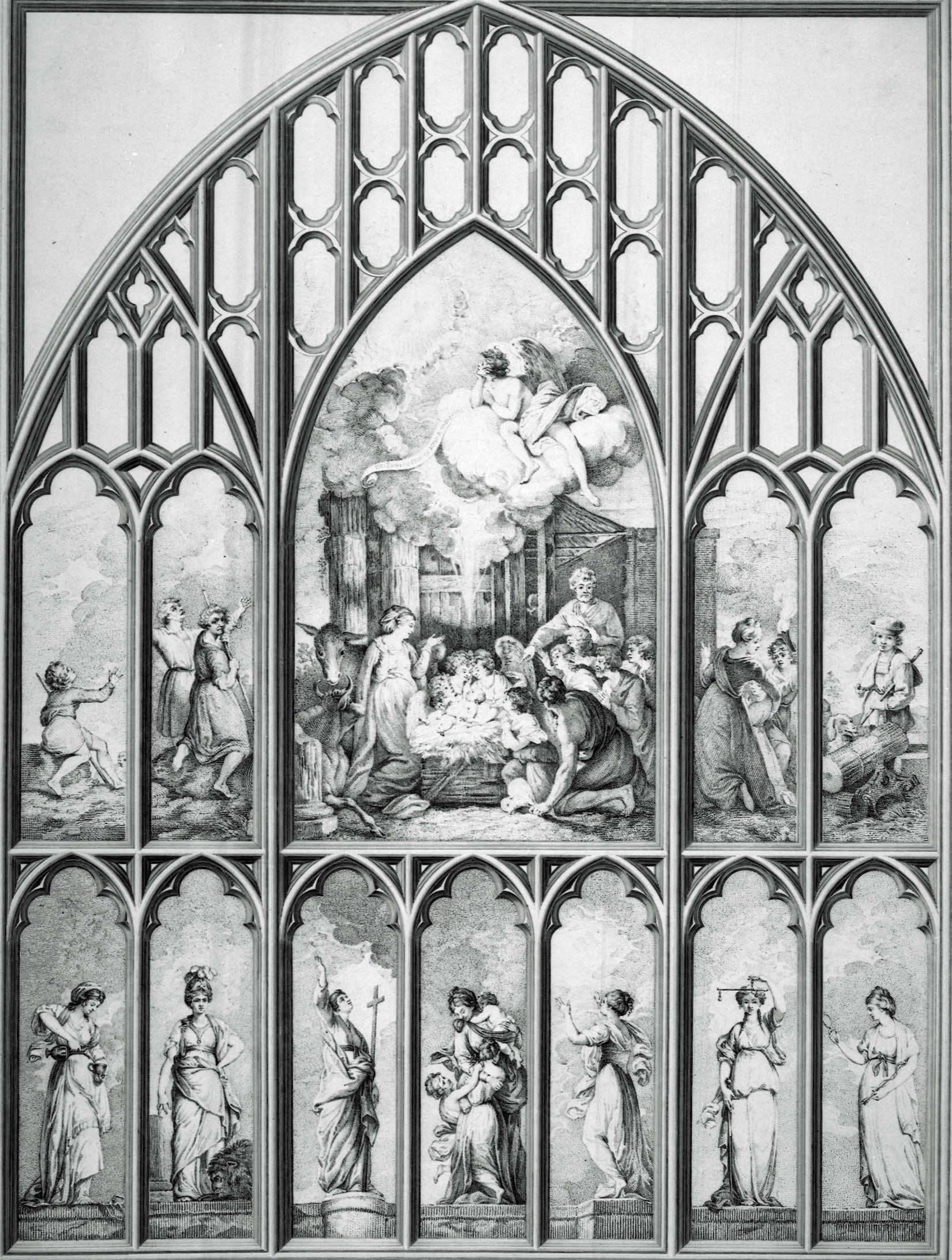 The West Window of the Chapel, New College Oxford, 1785