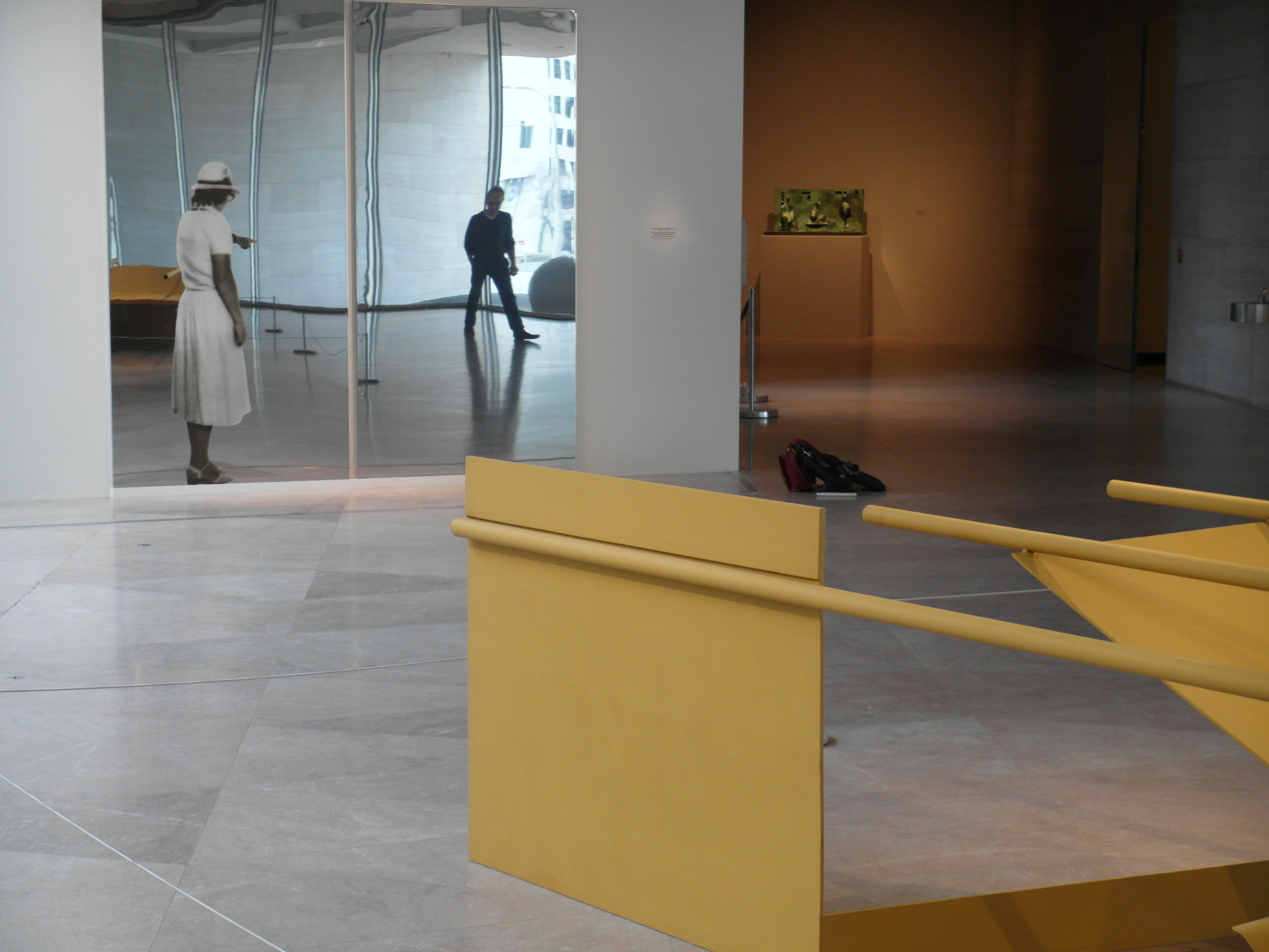 1967, installed at the National Gallery of Art, Washington, DC, 2016. Collection of Lois and Georges de Menil. In the background: Michelangelo Pistoletto, <i>Donna che indica</i> (Woman who points), silkscreen print on polished stainless steel, National Gallery of Art, Washington, DC