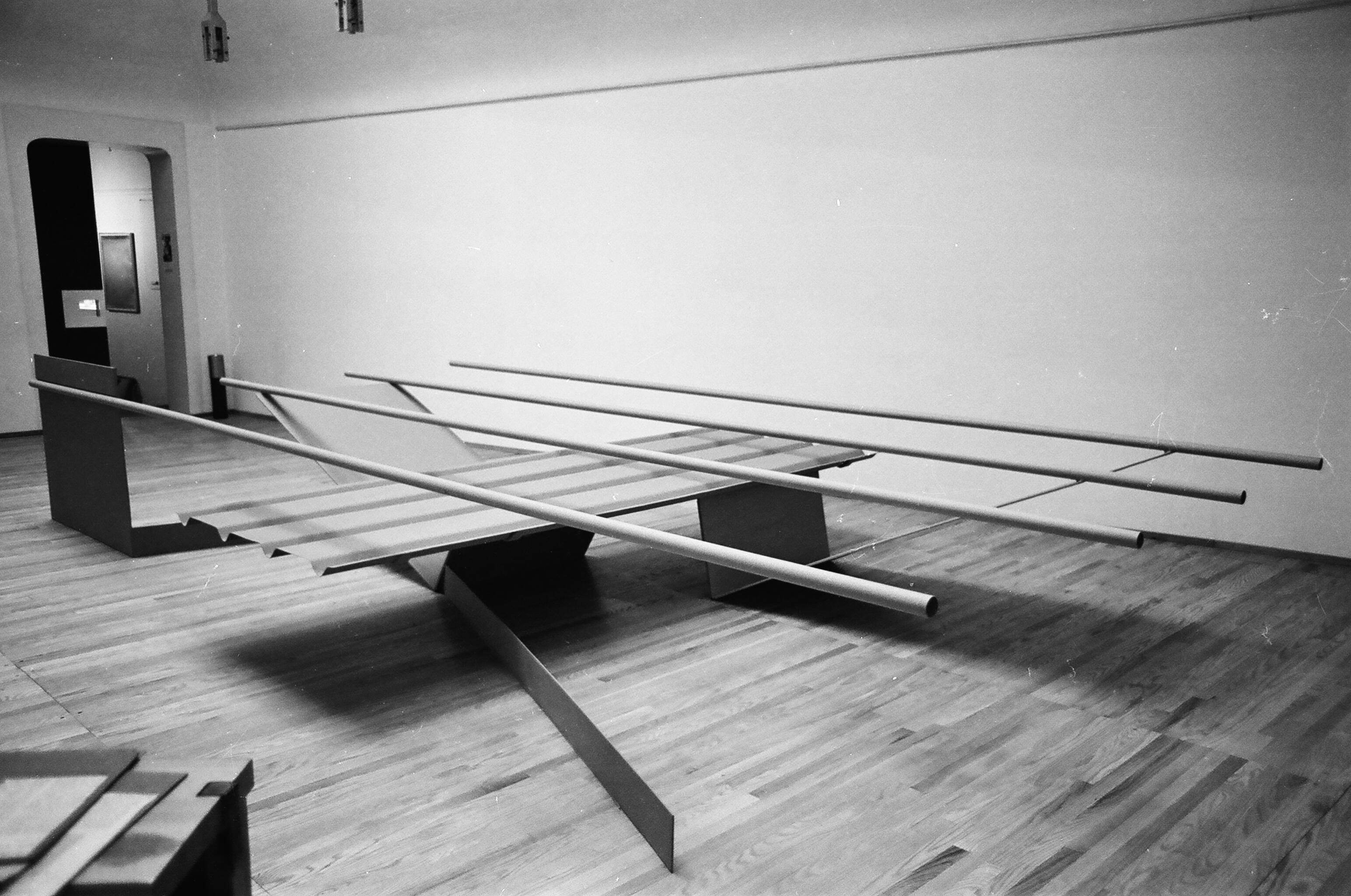 1967, installed in the <i>Recent Sculpture</i> exhibition at Kasmin Gallery, London, 1967 (the sculpture's first ever exhibition)