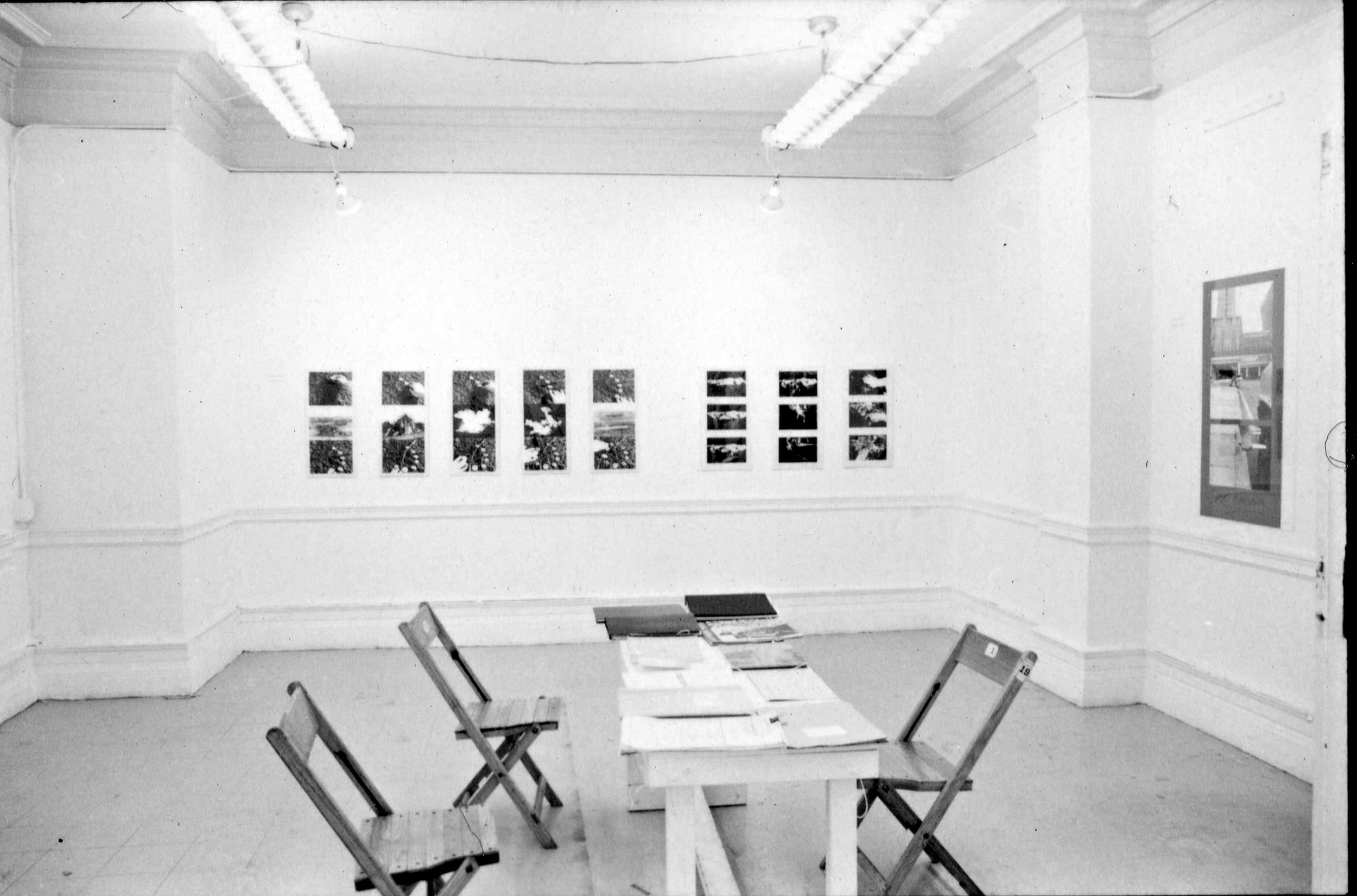 Artists Space, New York, 1979, showing Margaret Harrison, <i>Homeworkers: Woman's Work</i>, 1977–78
