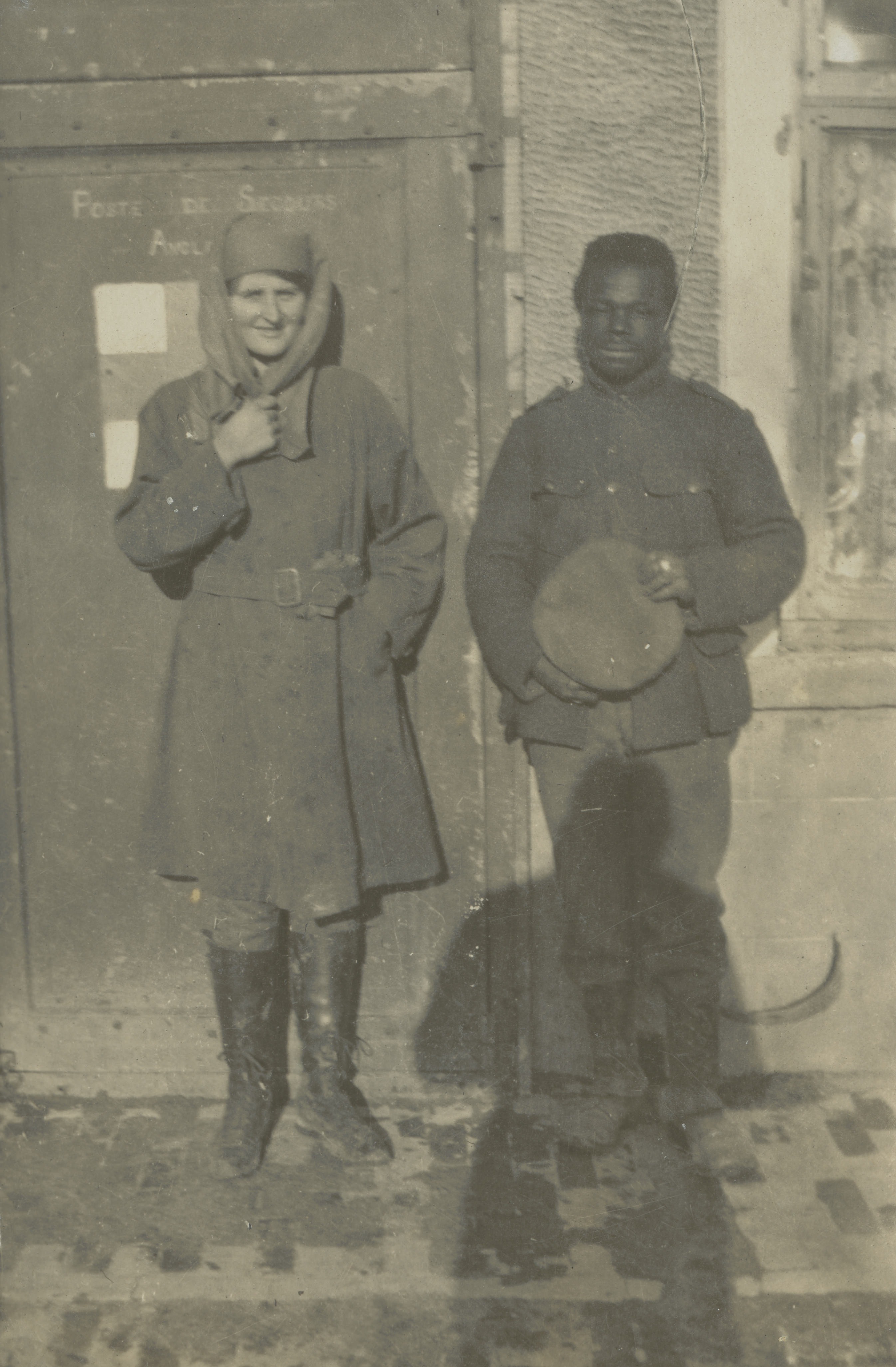 Mairi Chisholm with Jean Batiste, a Belgian Congolese soldier, undated.