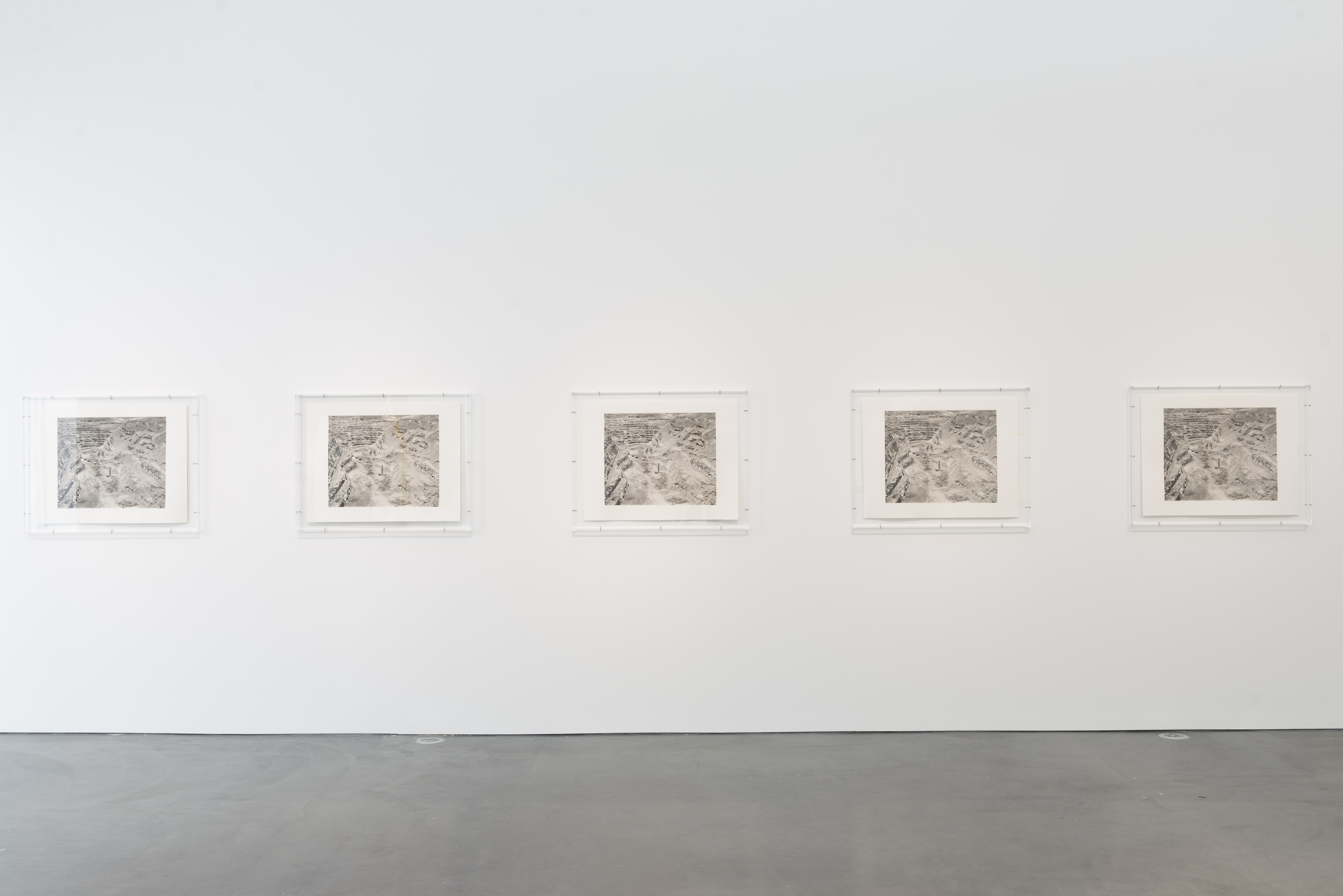2005, platinum/palladium prints framed in acrylic boxes, five parts, each framed 75.4 × 94.6 × 5.9 cm. Collection of Museum of Contemporary Art Chicago, Gift of Gerald S. Elliott, Albert A. Robin by exchange (2014.35.a-e).