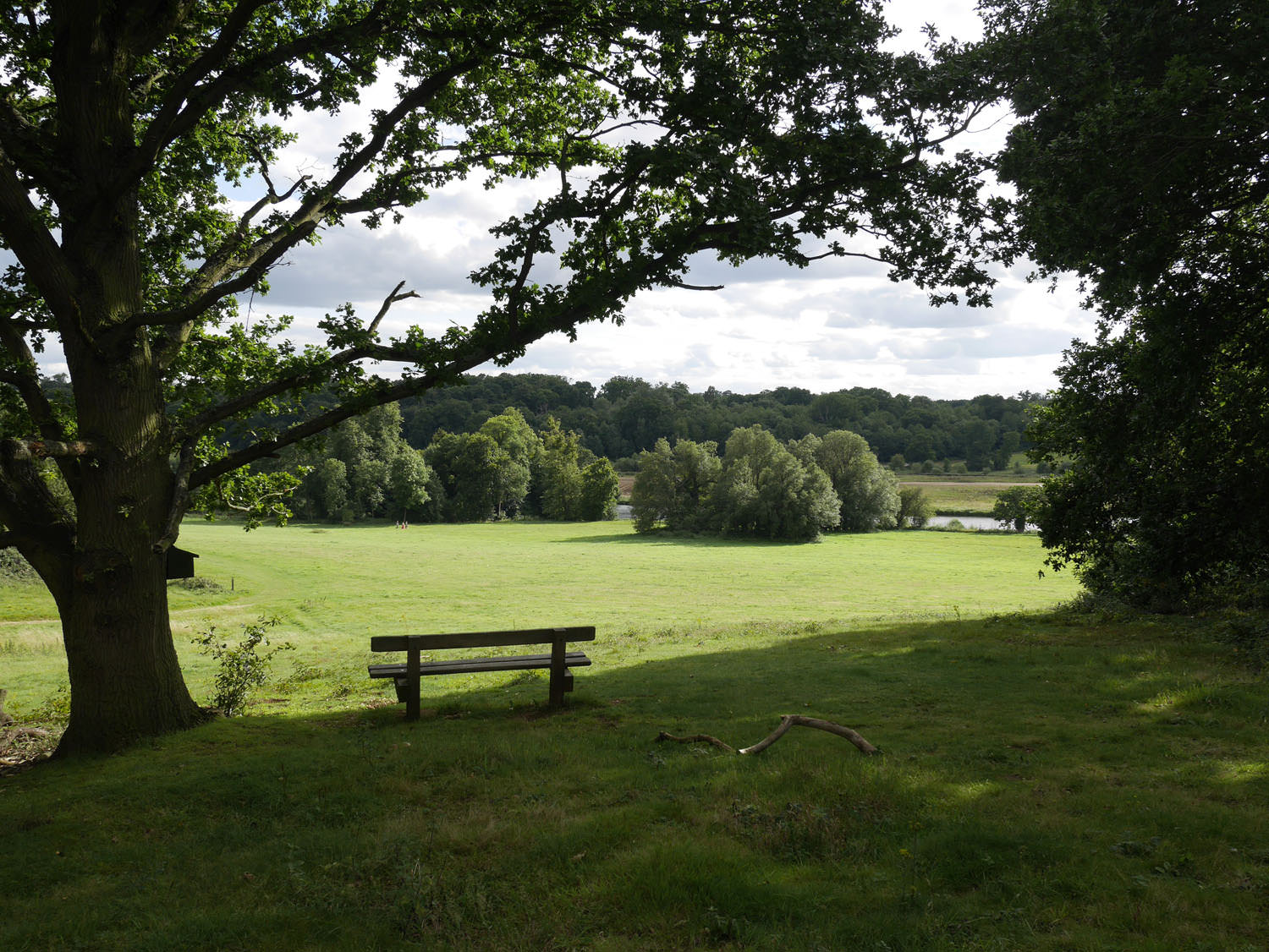 Panshanger Park, Hertfordshire, View from former house site overlooking River Mimram