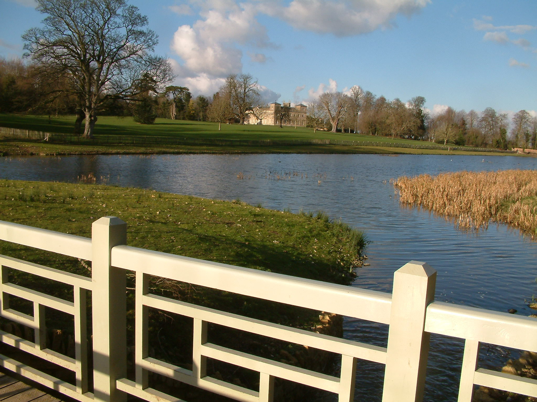View across the lake in Lydiard Park, Swindon