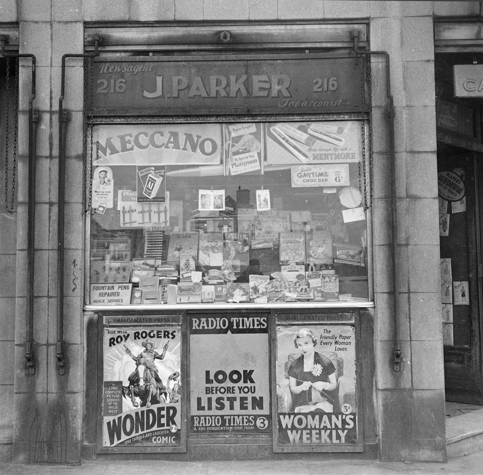 J. Parker Newsagents, 216 Bethnal Green Road, London