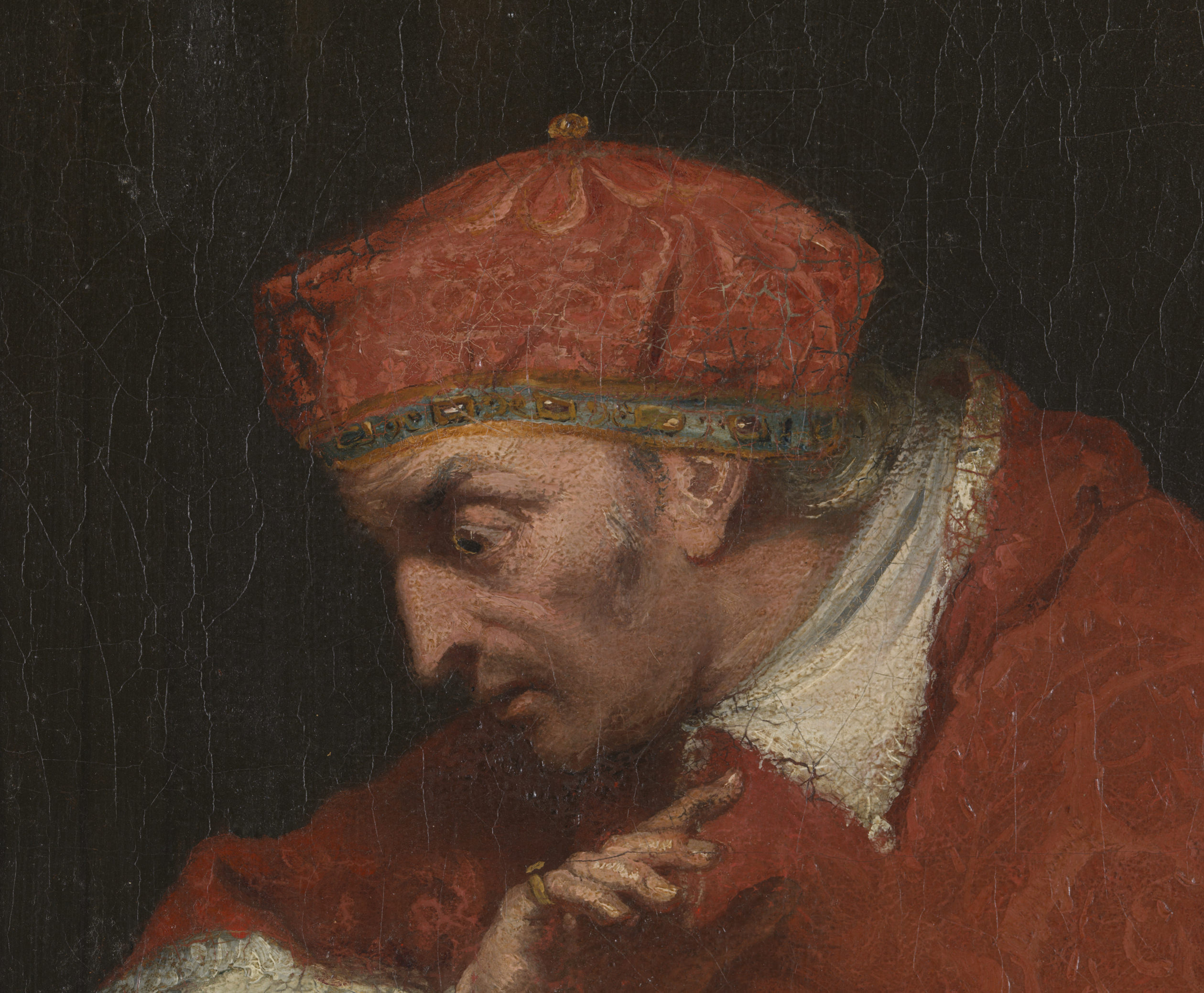 The Disgrace of Wolsey: detail