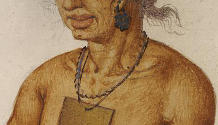 Portrait of an Indian Chief, possibly Wingina (detail)