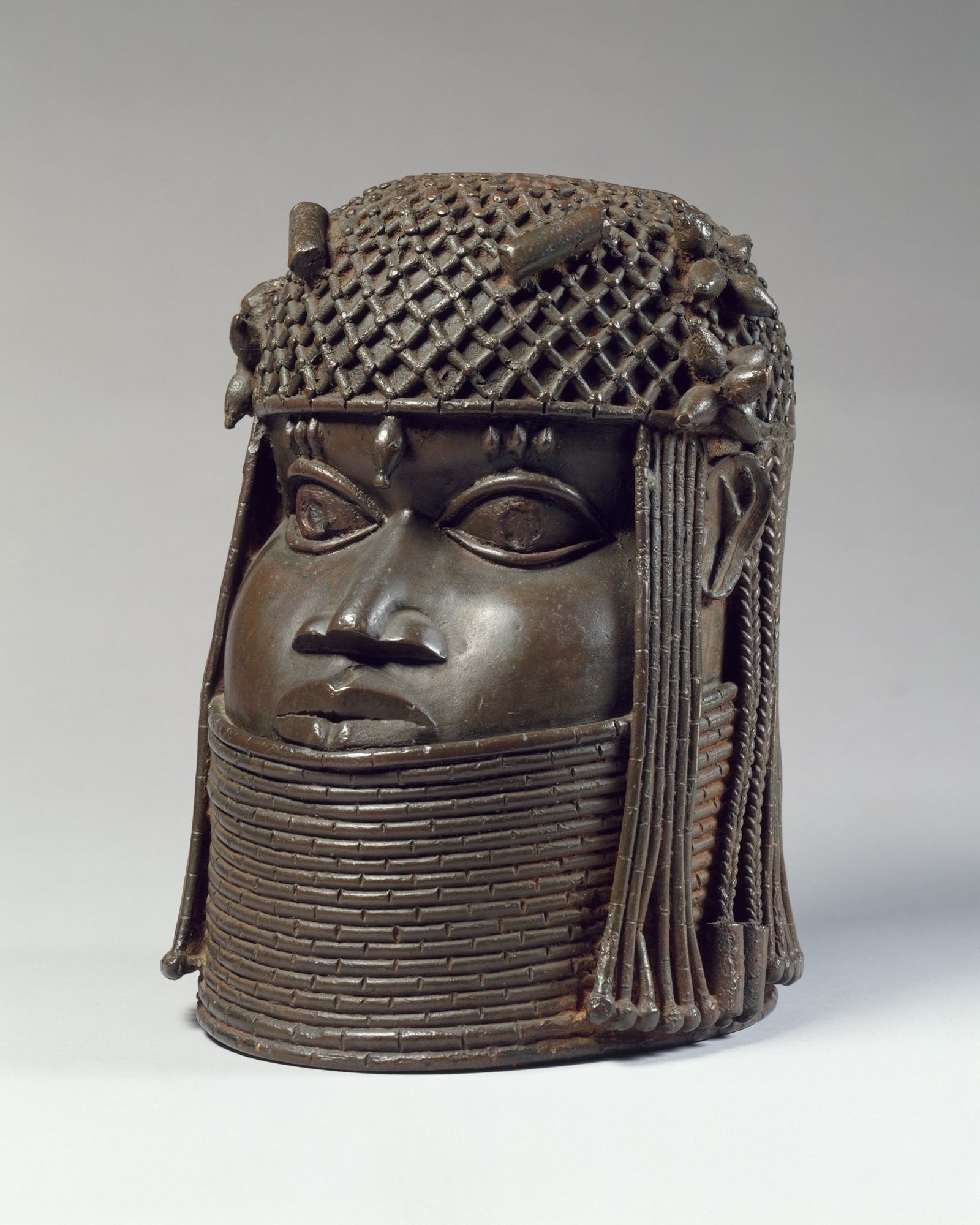 Brass Head of an Oba