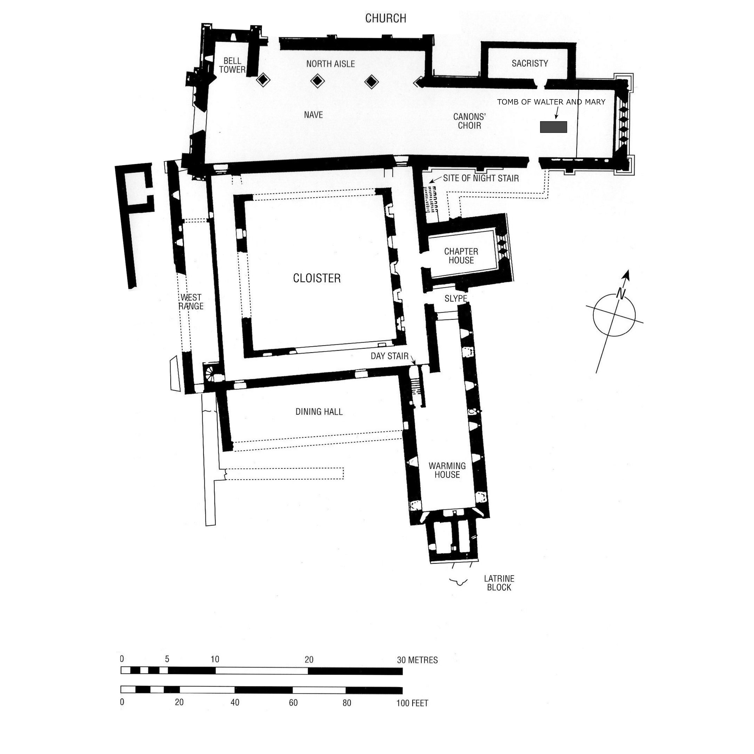 Floor plan of Inchmahome Priory
