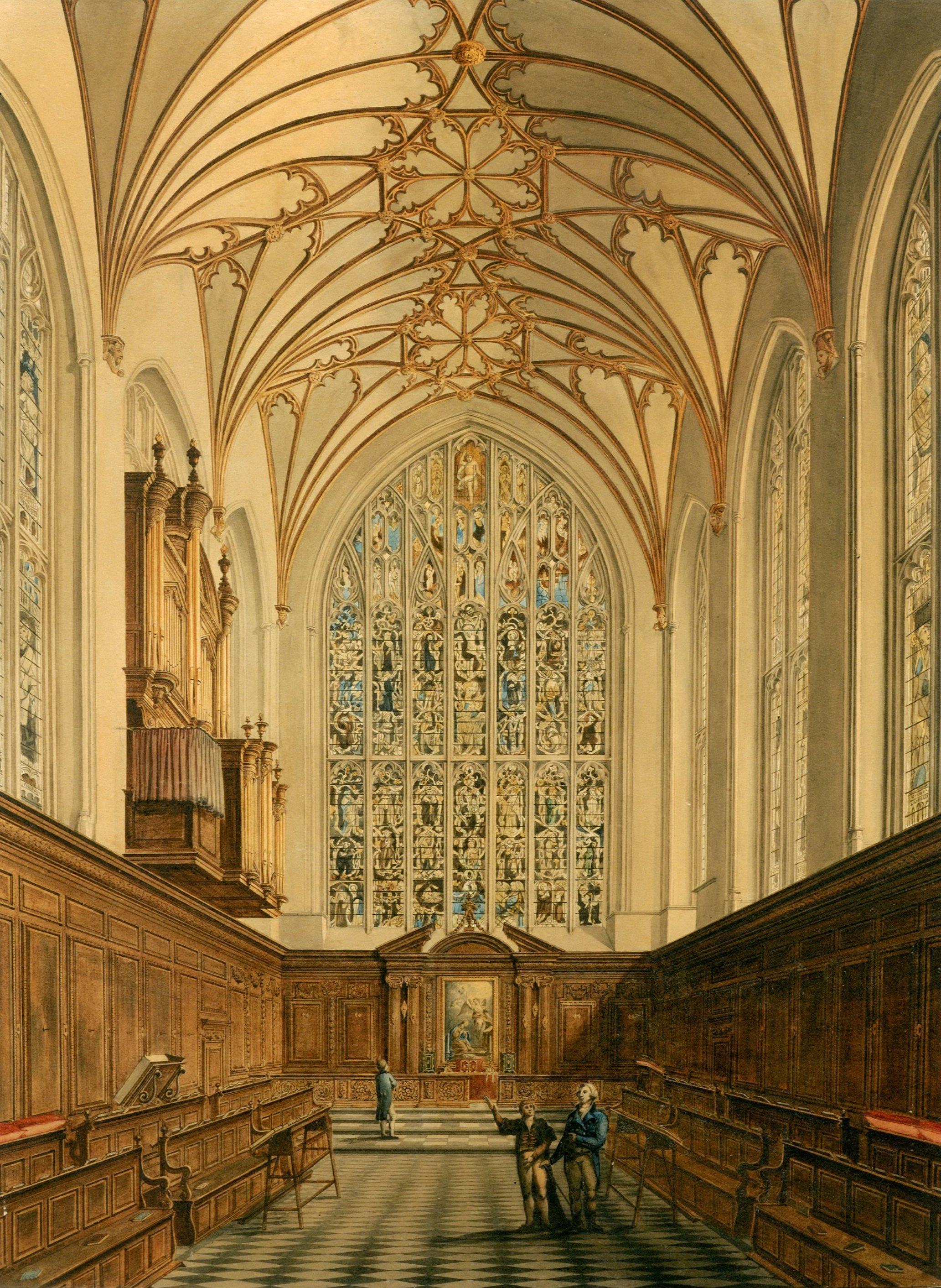 Interior view of Winchester College Chapel