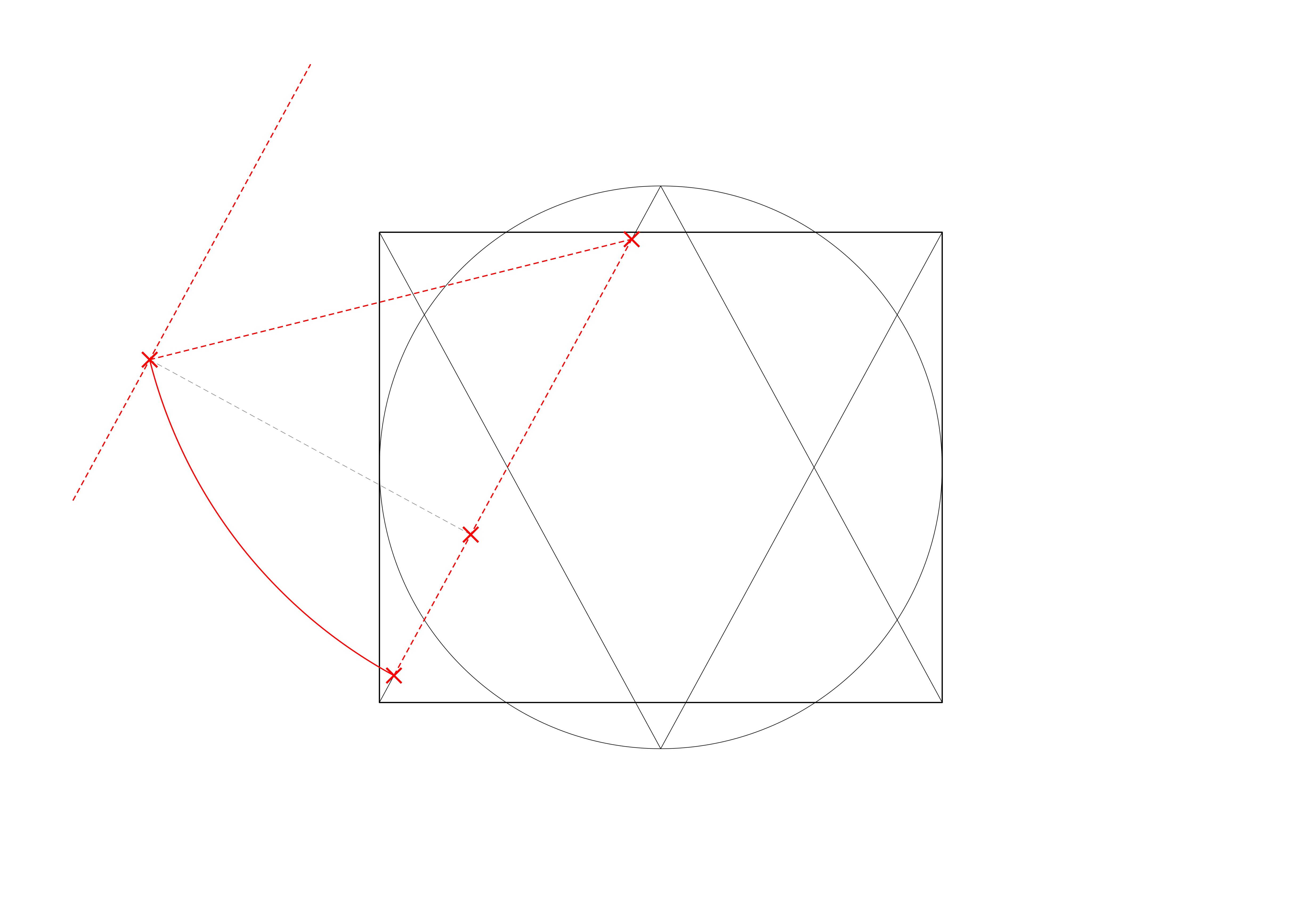<i>showing the direction of the transverse tiercerons and their apex positions based on centre points located on the impost level</i>
