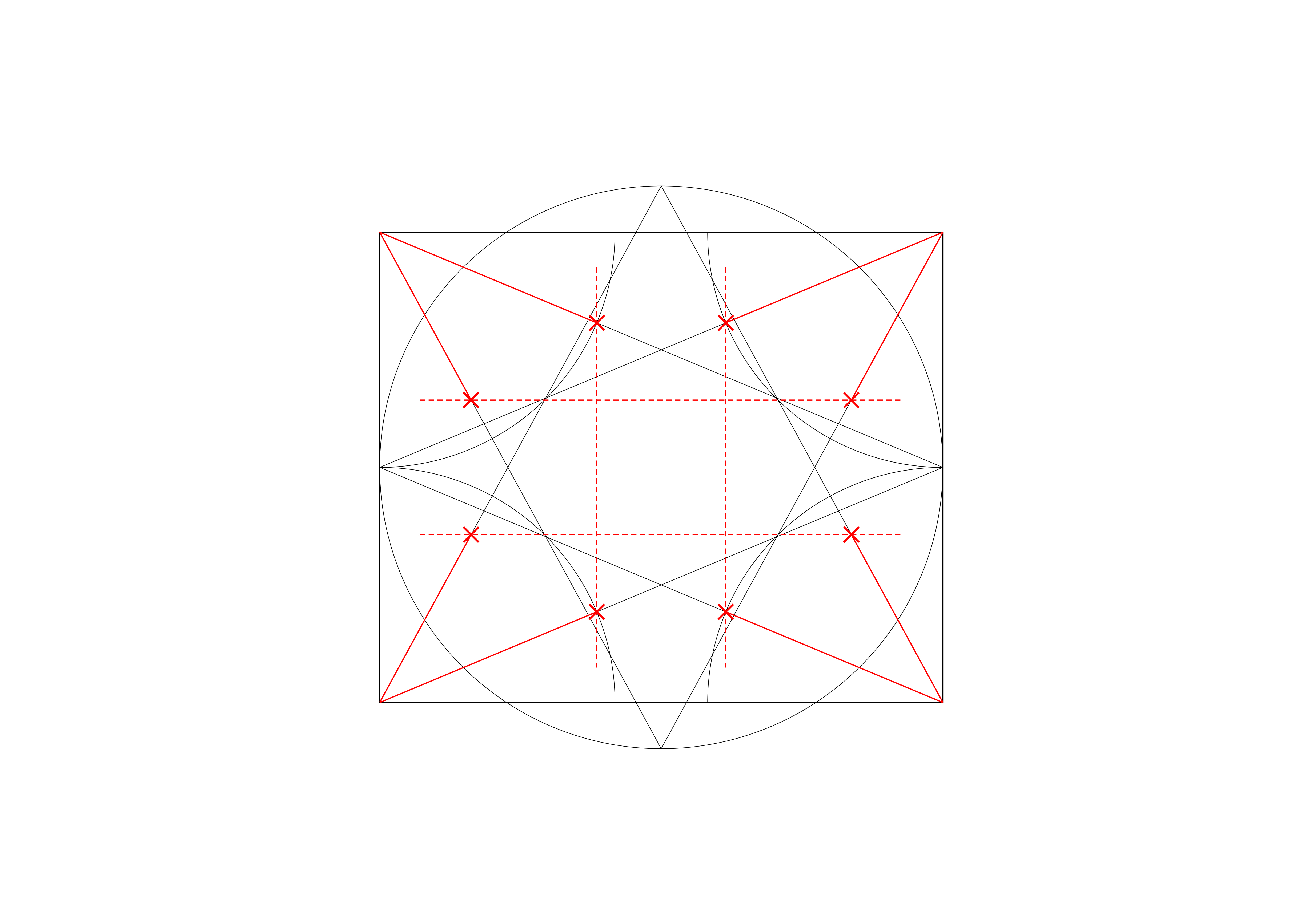<i>showing lines locating the sides of the transverse and longitudinal hexagons</i>