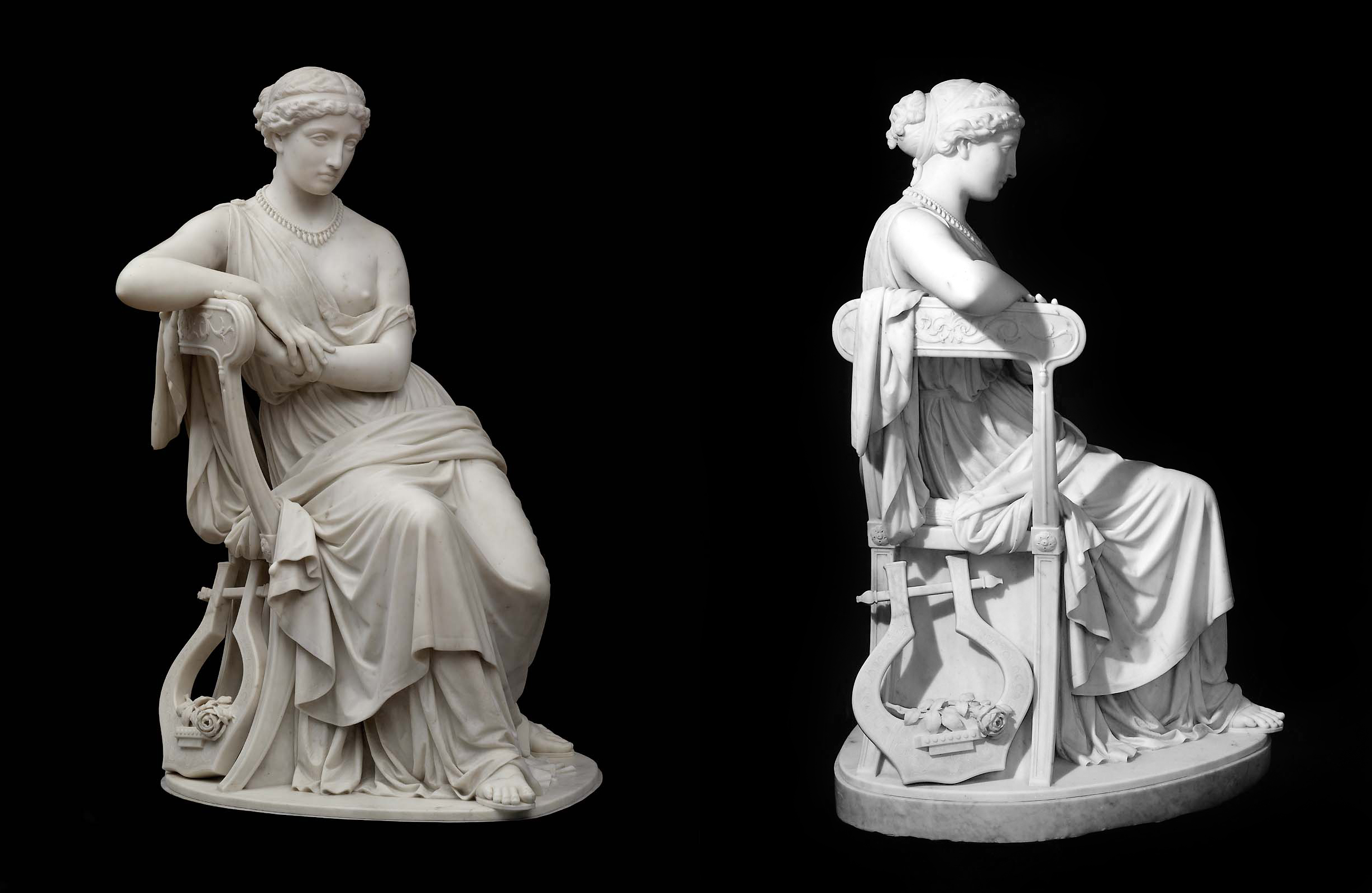 1863, marble, 137.5 x 85.1 x 84.1 cm, Museum of Fine Arts, Boston.