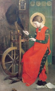 <i>St Elizabeth of Hungary Spinning for the Poor</i>, 1895