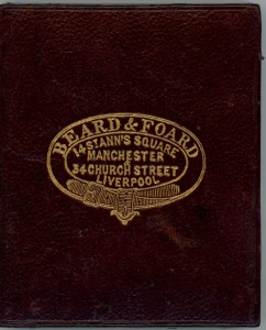"""Beard & Foard's Photographic Institutions. 14 St Anne's Square, Manchester and 34 Church Street Liverpool. Also at 31 King William St; 34 Parliament Street and the Royal Polytechnic Institution, London"""