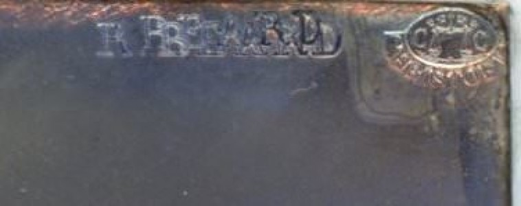 "Portrait of a Man (detail of imported Christofle plate over-stamped ""Beard"")"