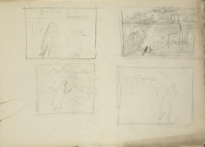 "Four sketches for ""Carnation, Lily, Lily, Rose"""