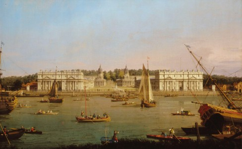 Greenwich Hospital from the North Bank of the Thames