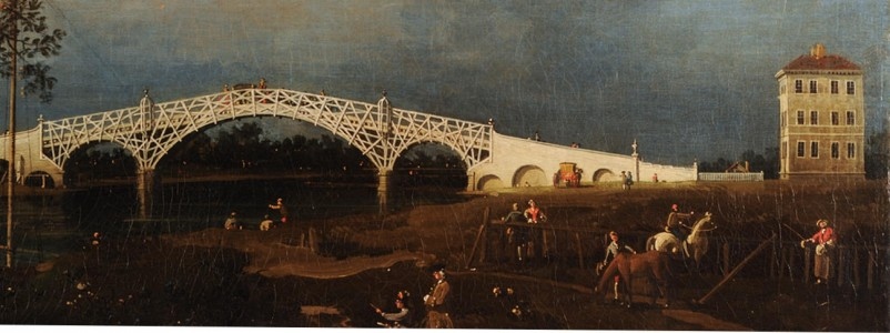 <i>Old Walton Bridge</i> (fig. 2),  1755, oil on canvas, 46 x 122.2 cm