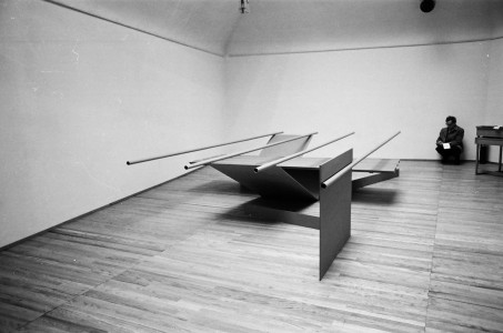 1967, installed in the <i>Recent Sculpture</i> exhibition at Kasmin Gallery, London, 1967