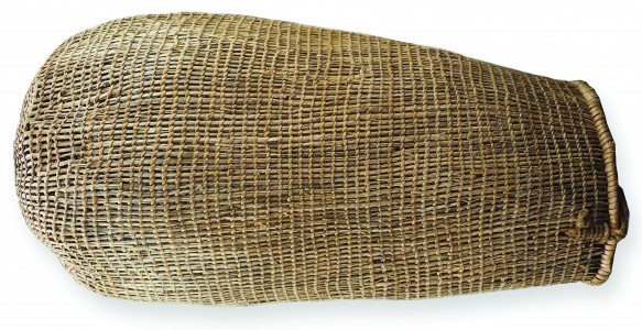 1874, basket. Collection of Queen Victoria Museum and Art Gallery, Launceston (QVM1993:H:151), donated by Miss Sarah EE Mitchell, 1909.
