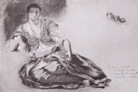 pastel, 28 x 42 cm. Collection of the Louvre Museum, Paris (MI890). Reproduced in <i>Eugène Delacroix: 1798-1863 Exposition du Centenaire</i>, (Paris: Ministry of Cultural Affairs, 1963).
