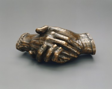 Clasped Hands of Robert and Elizabeth Barrett Browning