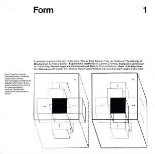 Form: A Quarterly Magazine of the Arts