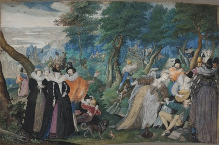"A Party in the Open Air. Allegory on Conjugal Love (""Allegory of Love"")"
