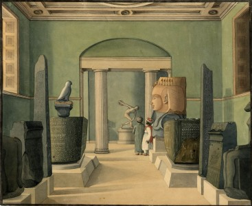 View through the Egyptian Room, in the Townley Gallery at the British Museum