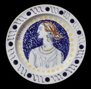 detail from <i>Famous Women</i>, ca. 1932-4, 25.5 cm diameter, ceramic. Copyright the Estate of Vanessa Bell, courtesy of Henrietta Garnett, and the Estate of Duncan Grant. All rights reserved, DACS 2017.