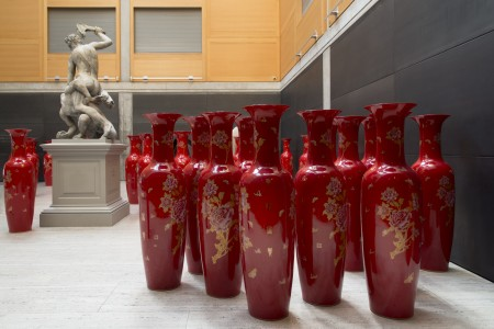 ceramic vessels, 2016. Installed at the Yale Center for British Art, New Haven, 2017.