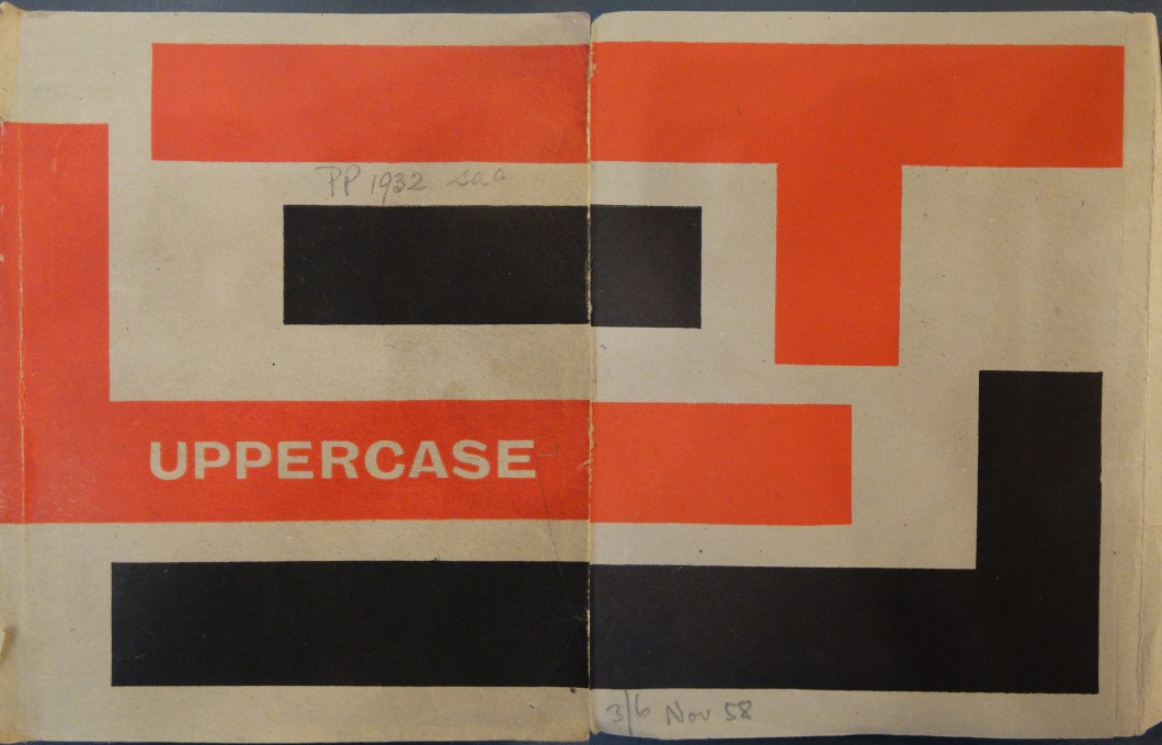 <i>Uppercase 1</i> journal cover, 1958