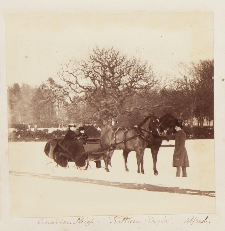 "Canadian Sleigh ""Kathleen"" ""Cryla"" Alfred, from the Georgina Ferguson Album"