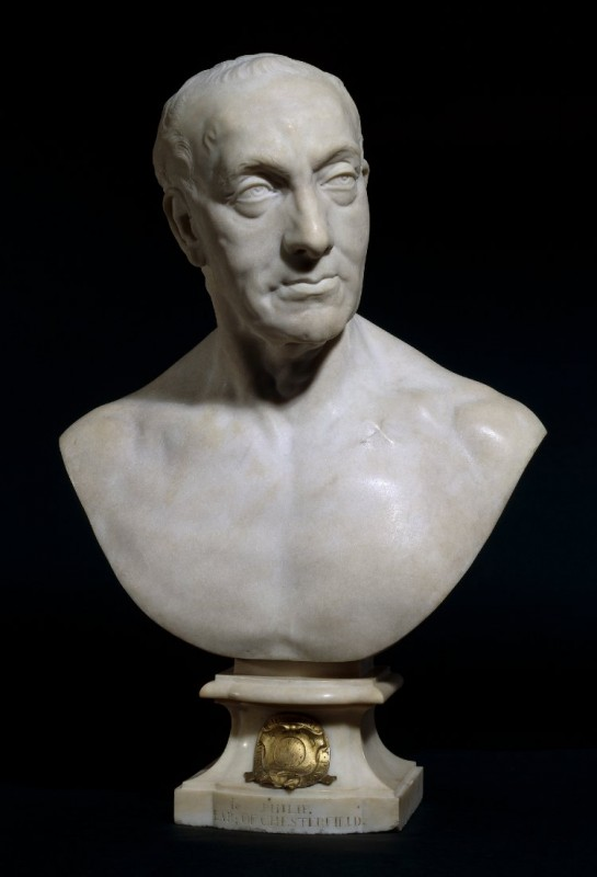 <i>Portrait bust of Philip Dormer Stanhope, 4th Earl of Chesterfield</i>, 1757