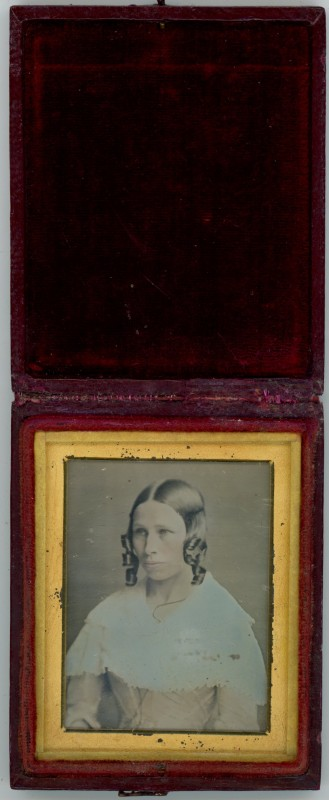 Portrait of a Woman (showing photograph in case)