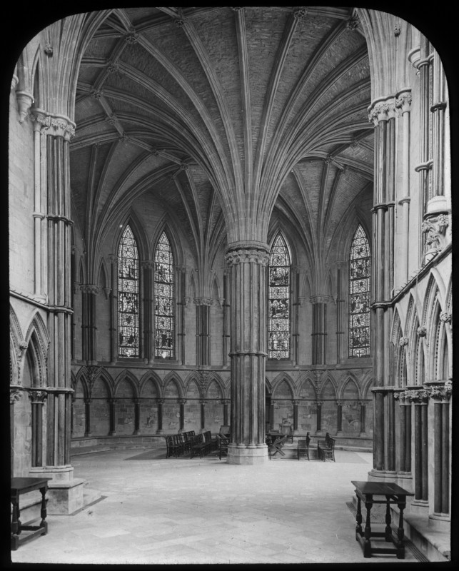 <i>Chapter House at Lincoln Cathedral</i>, 1895
