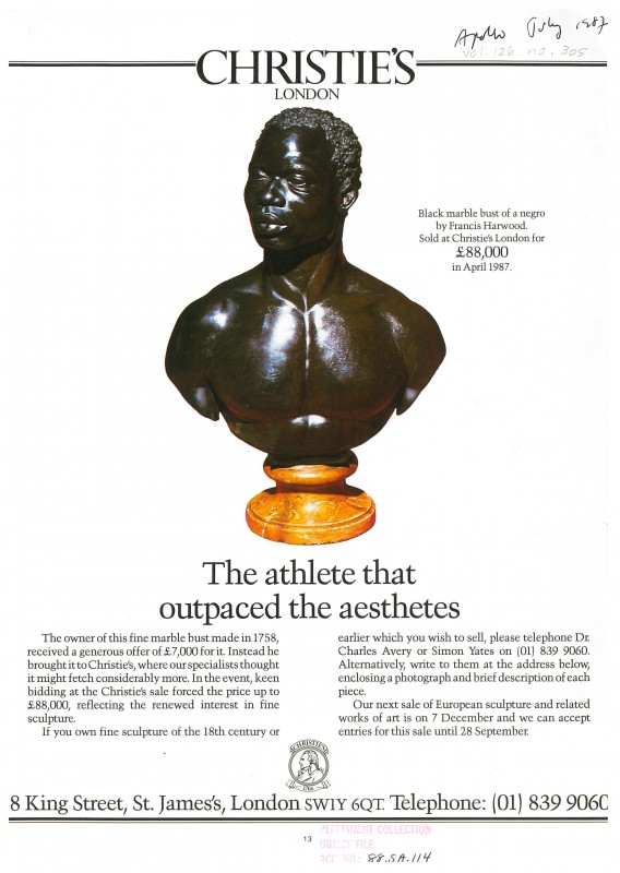 Advert from <i>Apollo</i> 126, no. 305 (July 1987), 13.