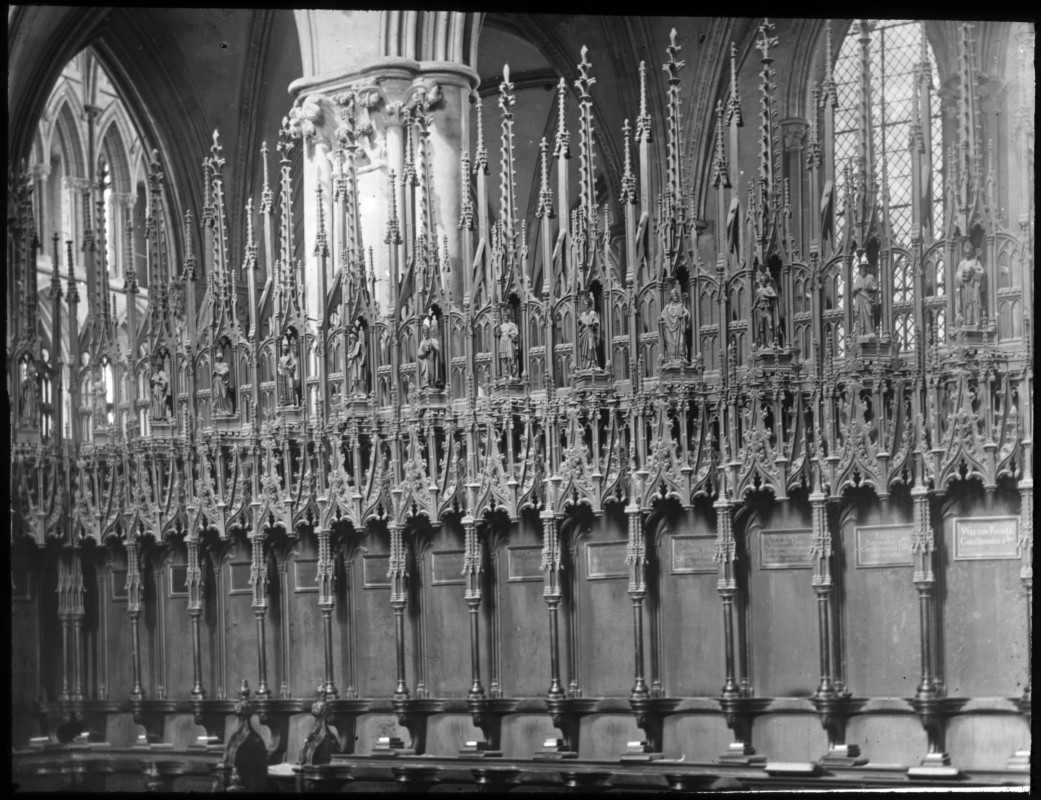 <i>Choir Stalls at Lincoln Cathedral</i>, 1895