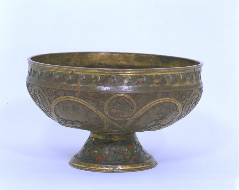 copper alloy; gold; enamel, 11.7 x 19.7 cm, V&A, London