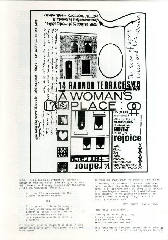 Unattributed poster for <i>A Woman's Place</i>, 1974
